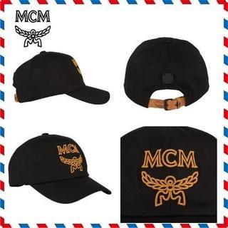 エムシーエム(MCM)の★新品正規品 MCM ブラックロゴ コットン キャップ(キャップ)