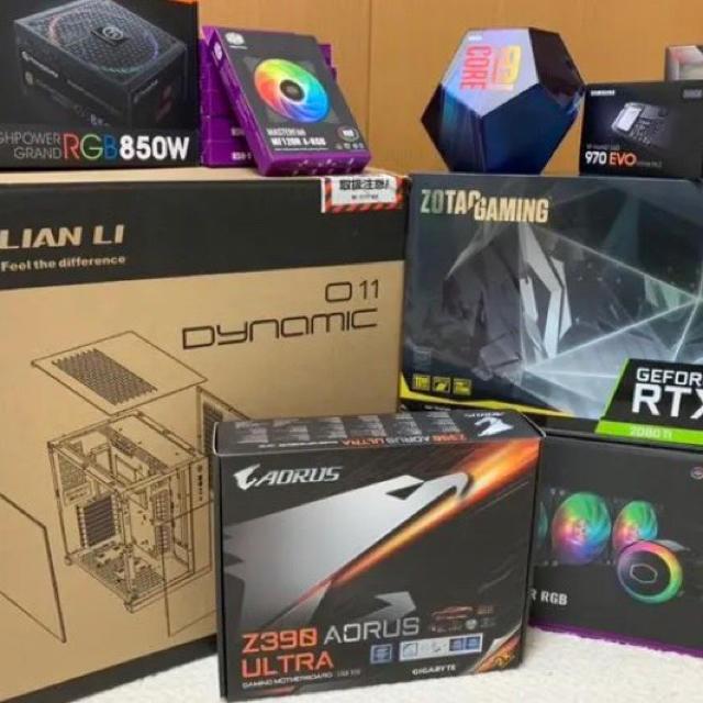 値下げ corei9-9900k rtx 2080ti 32GB 自作 スマホ/家電/カメラのテレビ/映像機器(その他)の商品写真