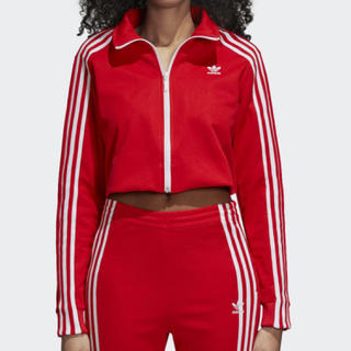 アディダス(adidas)のアディダスオリジナルス クロップ丈 ジャージ上 トラックジャケット(その他)