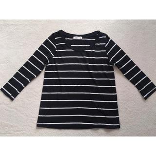 ザラ(ZARA)のZARA オーガニックコットン ボーダーロンT(Tシャツ(長袖/七分))