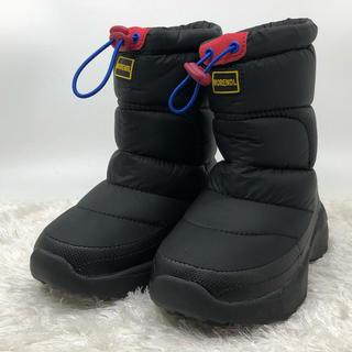 【新品未使用】スノーブーツ 雪遊び 雪用ブーツ キッズ 防水 18cm(ブーツ)