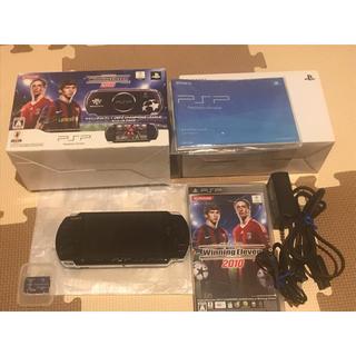 プレイステーションポータブル(PlayStation Portable)の★美品 PSP3000 ウイニングイレブンスペシャルパック (携帯用ゲーム本体)