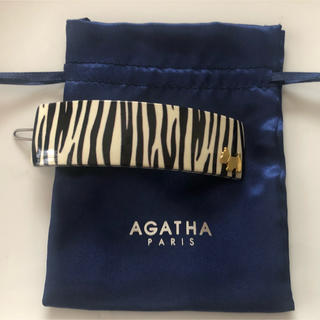 アガタ(AGATHA)のアガタパリ  ゼブラ柄ヘアバレッタ (バレッタ/ヘアクリップ)