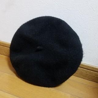 ムジルシリョウヒン(MUJI (無印良品))の無印 黒ベレー帽(ハンチング/ベレー帽)