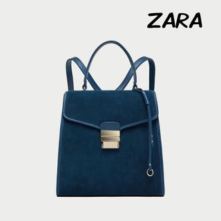 ザラ(ZARA)のZARA コンバーチブルー スエードリュック(リュック/バックパック)