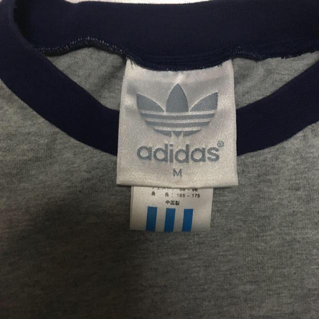 adidas(アディダス)のadidas❗90s⭐️ グレー×パープルのロンT 銀刺繍! メンズのトップス(Tシャツ/カットソー(七分/長袖))の商品写真