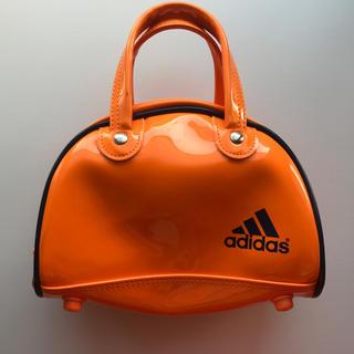 アディダス(adidas)のアディダス ミニバッグ  オレンジ adidas(ハンドバッグ)