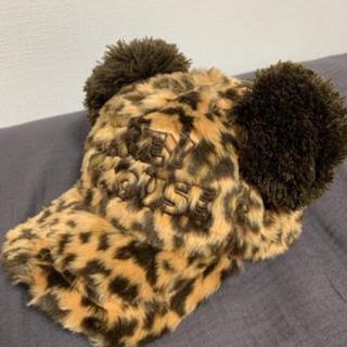 ディズニー(Disney)のミッキー 豹柄 帽子(ハンチング/ベレー帽)