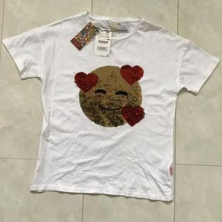 ザラ(ZARA)のスパンコールTシャツ(164cm)(Tシャツ/カットソー)