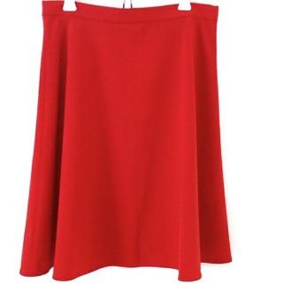 デミルクスビームス(Demi-Luxe BEAMS)の美品 Demi-luxe beams 赤 36 フレアスカート(ひざ丈スカート)