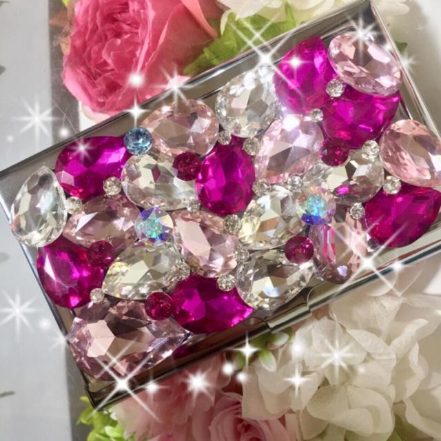 クロムハーツ iphone7plus ケース メンズ | キラキラガラスビジュー スワロフスキー名刺ケースの通販 by デコショップ  雅|ラクマ