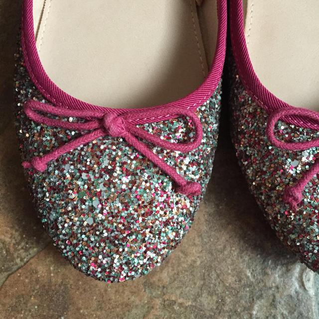 ZARA KIDS(ザラキッズ)のザラ ♡ グリッターバレエシューズ 35 レディースの靴/シューズ(ハイヒール/パンプス)の商品写真