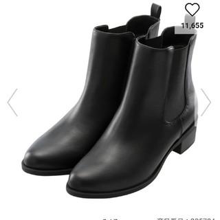 ジーユー(GU)の新品  GU  サイドゴアブーツ  ブラック  Mサイズ(ブーツ)