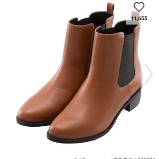 ジーユー(GU)の新品  GU  サイドゴアブーツ  ブラウン  Mサイズ(ブーツ)