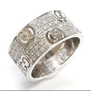 グッチ(Gucci)の正規品 グッチ スターダスト パヴェダイヤ リング K18WG ホワイトゴールド(リング(指輪))