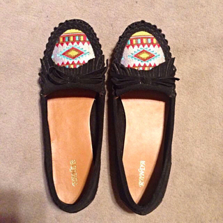ランダ(RANDA)の新品、送料込♡RANDAスエードモカシン(ローファー/革靴)