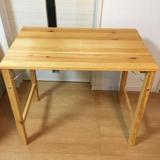 ムジルシリョウヒン(MUJI (無印良品))の訳あり  パイン材折りたたみテーブル(折たたみテーブル)