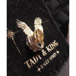 tady &king  ダブルフェザーリング‼️k18  シルバー (リング(指輪))