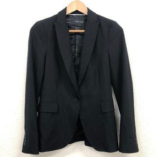 ザラ(ZARA)の美品 ZARA  テーラード ジャケット 黒 ブラック(テーラードジャケット)