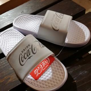 コカ・コーラ シャワーサンダル白 L(サンダル)