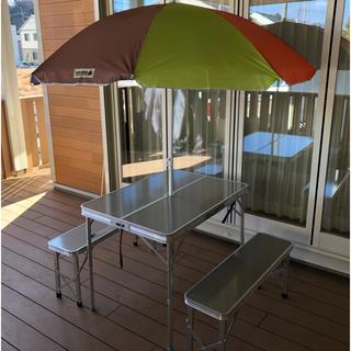 ロゴス(LOGOS)のFieldoor ピクニックテーブル レジャーテーブル パラソル LOGOS(テーブル/チェア)