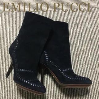 エミリオプッチ(EMILIO PUCCI)の★美品★ステッチが可愛いエミリオプッチのブーツ♡(ブーツ)