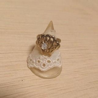 ゴールド色シェルモチーフピンキーリング 新品未使用(リング(指輪))