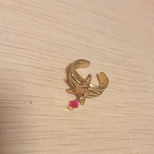 ゴールド色星モチーフピンキーリング 新品未使用 レディースのアクセサリー(リング(指輪))の商品写真