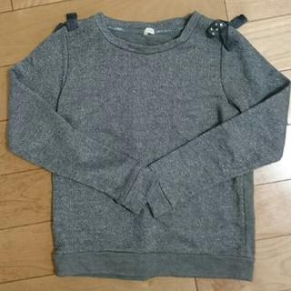 ジーユー(GU)のトレーナー 140センチ 女の子(Tシャツ/カットソー)