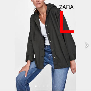 ザラ(ZARA)の新品タグ付き ZARA ザラ フード付き ライト アウター ジャケット L(その他)