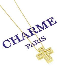 22k plating cz diamond separate necklace