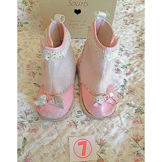 スーリー(Souris)のsouris ⑦ 可愛い ピンク ブーツ★14.5cm 靴 シューズ スーリー(ブーツ)