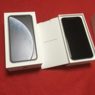 アイフォーン(iPhone)のシムフリー!iPhone XR 128GB ホワイト(スマートフォン本体)