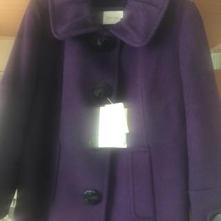ローズティアラ(Rose Tiara)のアンゴラ30%混のカラー取り外し出来る厚手のジャケット、未使用です(ピーコート)