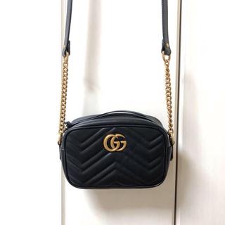 34d6951be664 グッチ(Gucci)の GUCCI GGマーモント キルティングミニバッグ(ショルダーバッグ)