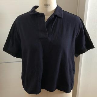 ジーユー(GU)のジーユー☆新品タグ付き クロップドユルポロシャツ(ポロシャツ)
