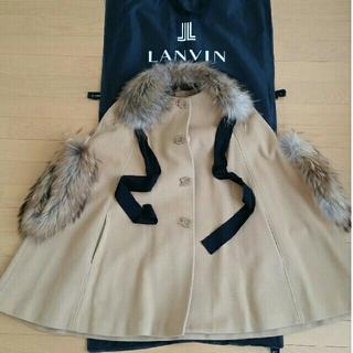 ランバンオンブルー(LANVIN en Bleu)の極美品♪ランバンオンブルー♪ポンチョコート(ポンチョ)