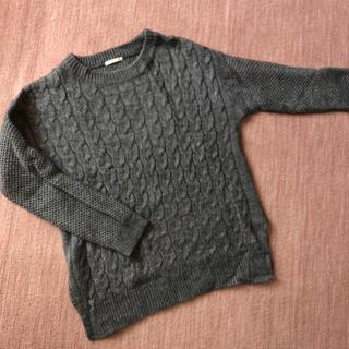 ジーユー(GU)のケーブルニット✩GU セーター グレー S(ニット/セーター)