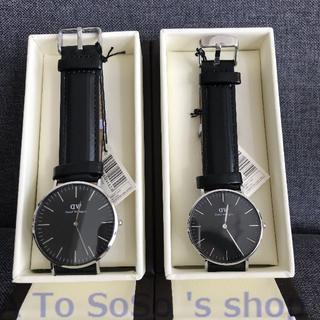 ダニエルウェリントン(Daniel Wellington)の☆DW 2本セット ペアウォッチ  シンプル  メンズ レディース シルバー(腕時計(アナログ))