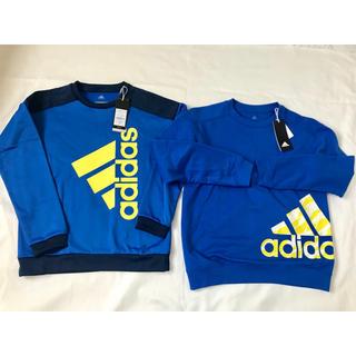 アディダス(adidas)の専用です。新品 アディダス 150㎝ 2枚トレーナー 長袖 青 裏起毛(Tシャツ/カットソー)