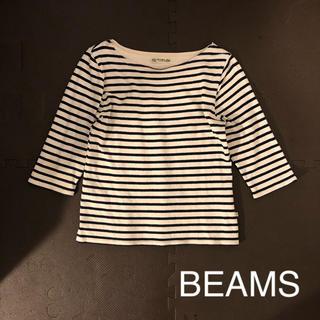 ビームス(BEAMS)のBEAMS 7分丈 ボーダーカットソー(カットソー(長袖/七分))