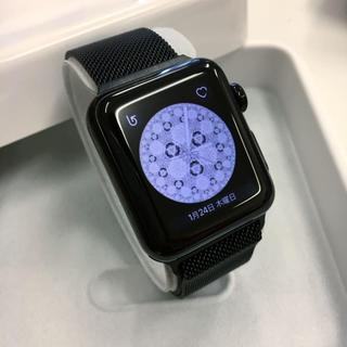 アップルウォッチ(Apple Watch)のApple Watch Black Stainless Steel(その他)