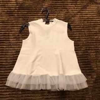 アンドクチュール(And Couture)のアンドクチュール /白 /チュール /トップス(カットソー(半袖/袖なし))