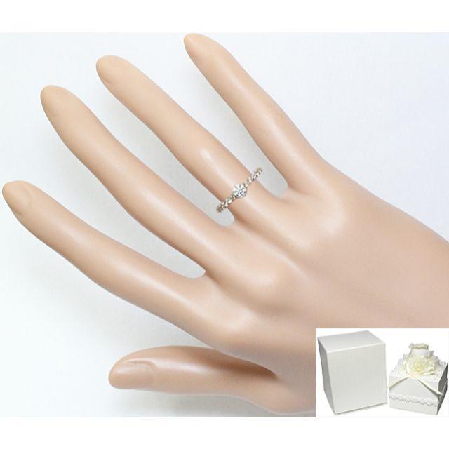 4℃(ヨンドシー)の4℃ ダイヤ 0.25ct EX H&C K18 リング 指輪 5.5号 6号 レディースのアクセサリー(リング(指輪))の商品写真