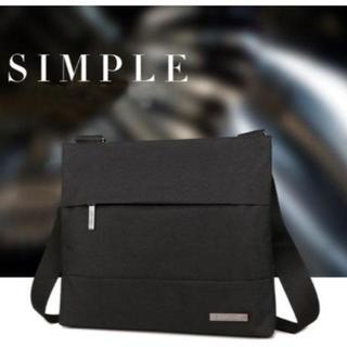 メンズ シンプル 黒 ショルダーバッグ 防水 軽量 メッセンジャーバッグ(メッセンジャーバッグ)