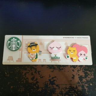 スターバックスコーヒー(Starbucks Coffee)の韓国スターバックス★2019 カカオフレンズ マグネット/グリーン/非売品(その他)