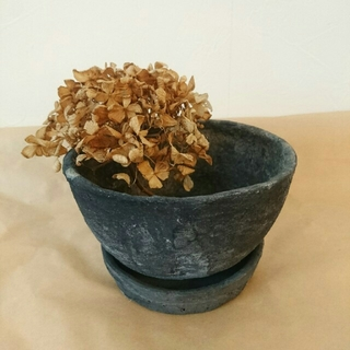 プランター 植木鉢  黒 アンティーク シンプル フラワーアレンジメント 花器 (プランター)
