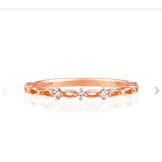 ヨンドシー(4℃)のcanal4°C k10 ダイヤ ピンキーリング 2号 リング バレンタイン (リング(指輪))