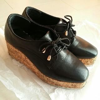 フォーエバートゥエンティーワン(FOREVER 21)のウエッジソール 厚底 シューズ Forever21(ローファー/革靴)