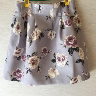 ダズリン(dazzlin)のダズリン♡ローズ柄ボンディングスカート(ミニスカート)